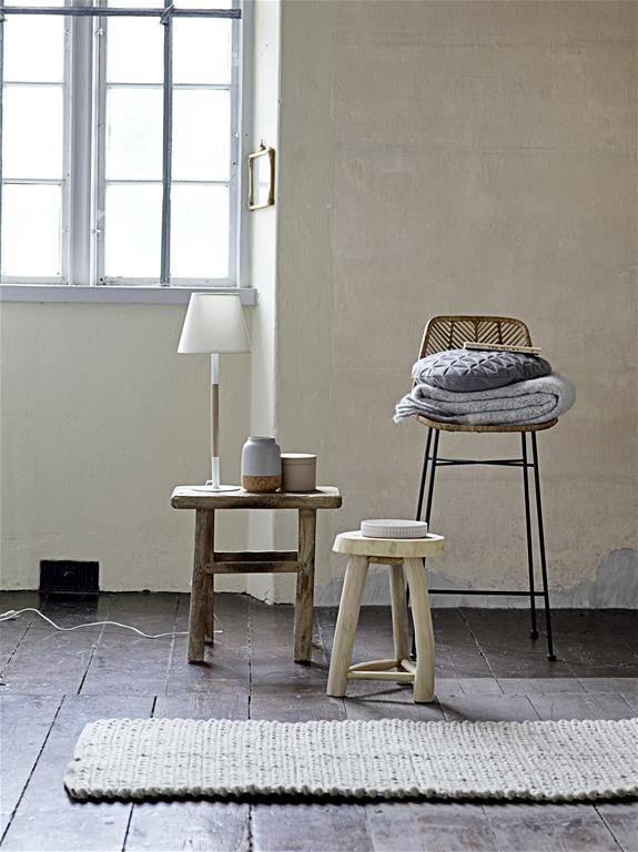 tabouret de bar en rotin naturel bloomingville petite lily interiors. Black Bedroom Furniture Sets. Home Design Ideas