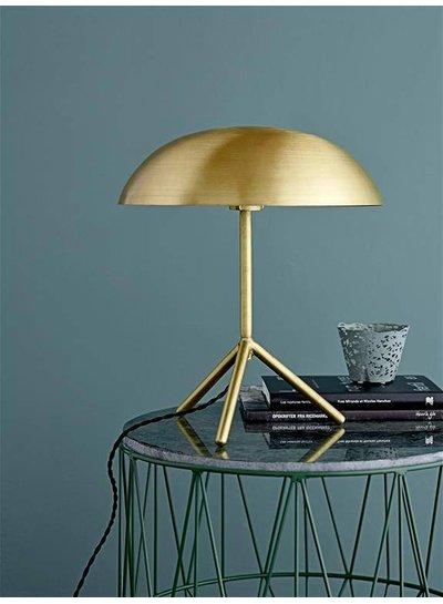 Bloomingville Lampe de bureau tripod avec fini Or brossé- Ø35xH40 cm - Bloomingville