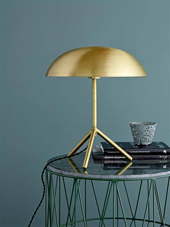 Bloomingville Lámpara de Escritorio Trípode con Acabado de Oro- Ø35xH40cm - Bloomingville