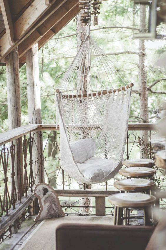Scandinavian and Ethnic terrace design - seen on Pinterest