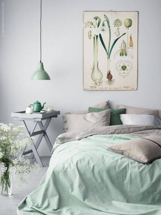 Habitación decorada con estilo Primaveral - visto en Elle Decoration Suède