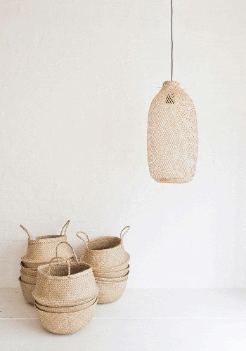 Bamboo pendant leamps, trend of the moment ! - Seen on Pinterest and Instagram