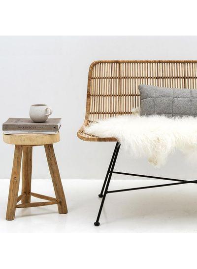 Bloomingville Natural / black rattan bench / Sofa - 120cm - Bloomingville
