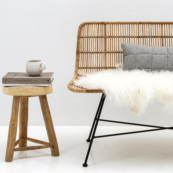Bloomingville Rattan bench / Sofa - natural - 120cm - Bloomingville
