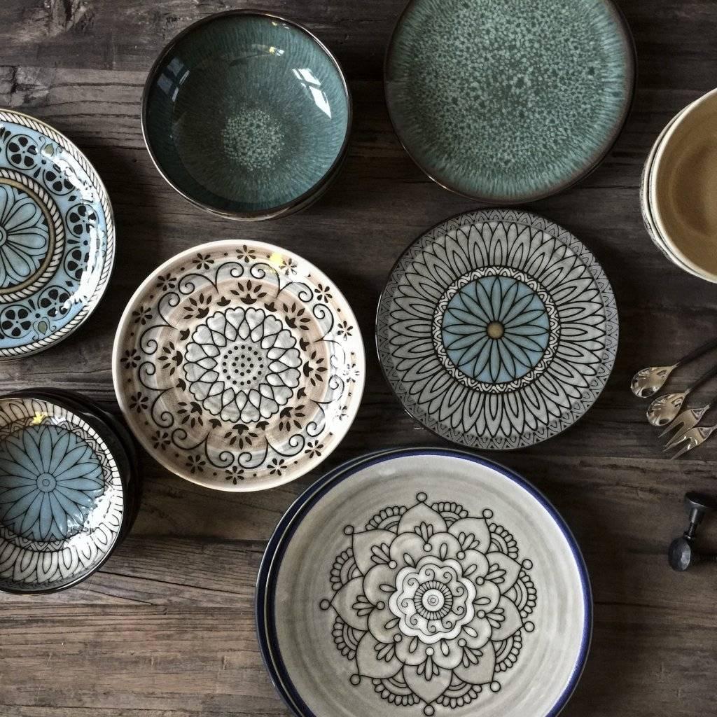 Tell me more assiette en gr s 39 florens 39 style ethnique for Set de table epais