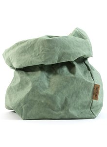 Uashmama Washable Paper Bag - Sage / Green - Uashmama