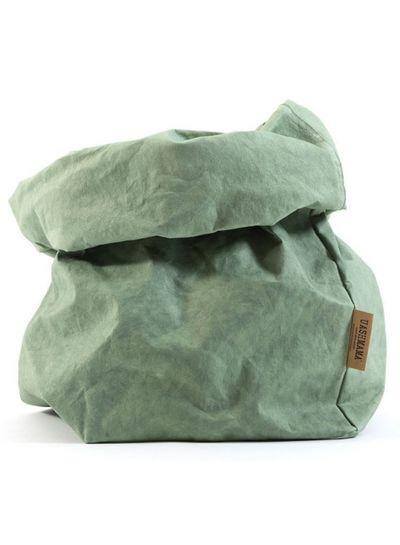 Uashmama Bolsa de papel lavable- sage - Uashmama