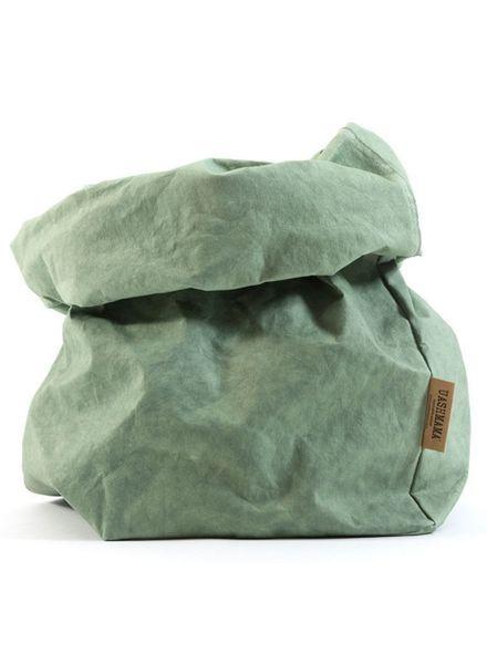 Uashmama Washable Paper Bag - Sage / Green - Uashmama