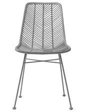 Bloomingville Rattan dining chair Lena - Gray - Bloomingville