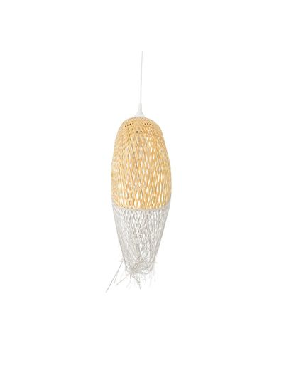 Bloomingville Suspension lamp Bamboo - natural and grey - Ø20xH75m - Bloomingville
