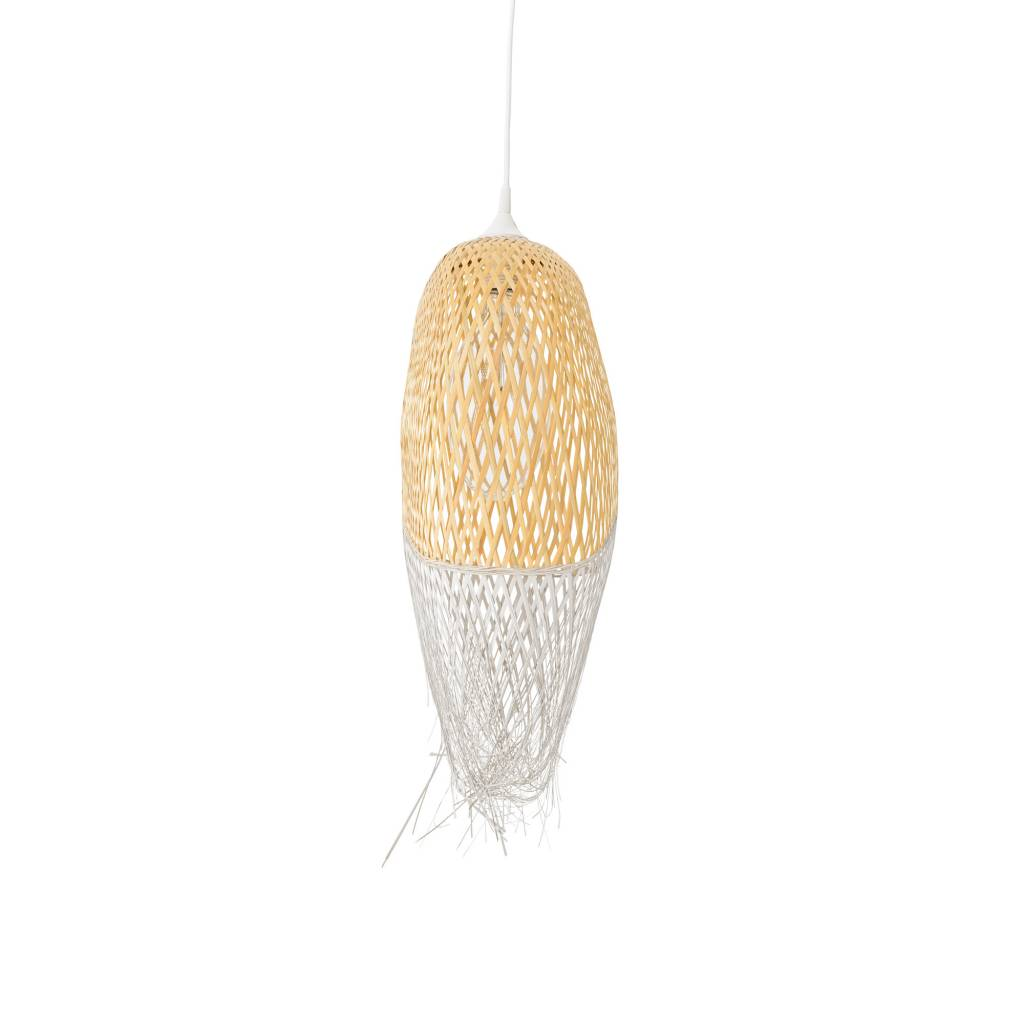 Bloomingville Pendant lamp bamboo - natural and grey - Ø20xH75cm - Bloomingville