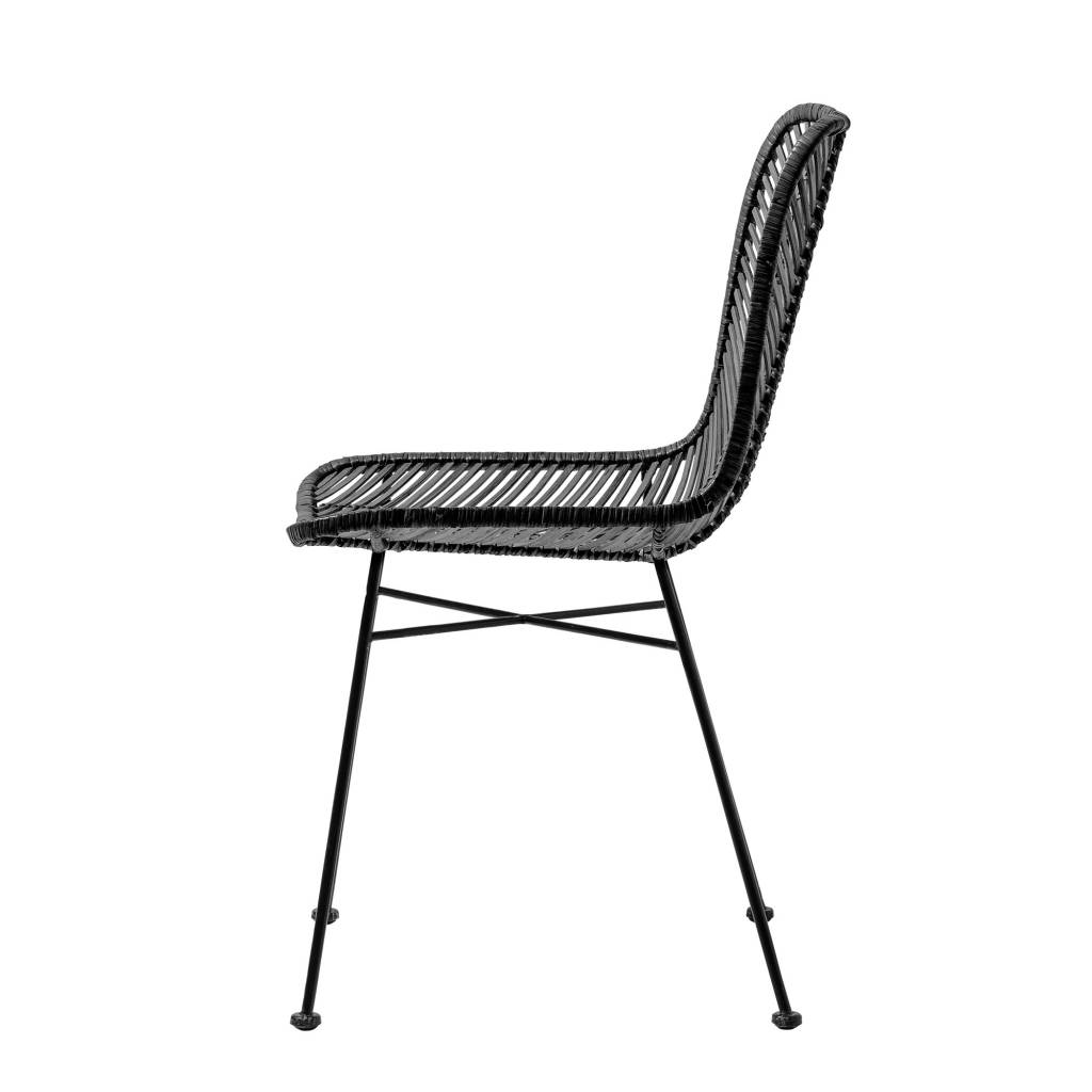 Bloomingville Lena black rattan chair - Bloomingville