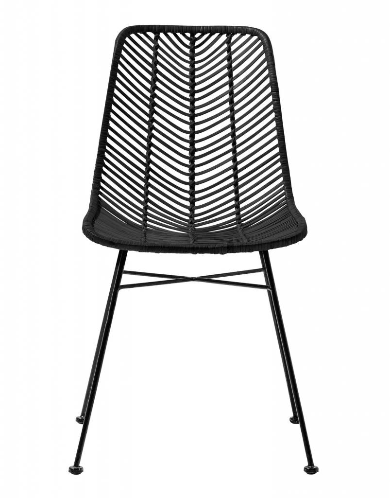 Bloomingville Lena black rattan chair - Bloomingville ...  sc 1 st  Petite Lily Interiors & Bloomingville Lena black rattan chair - Bloomingville - Petite Lily ...