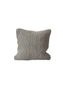 Tell me more Coussin tricot coton - gris clair - Tell Me More