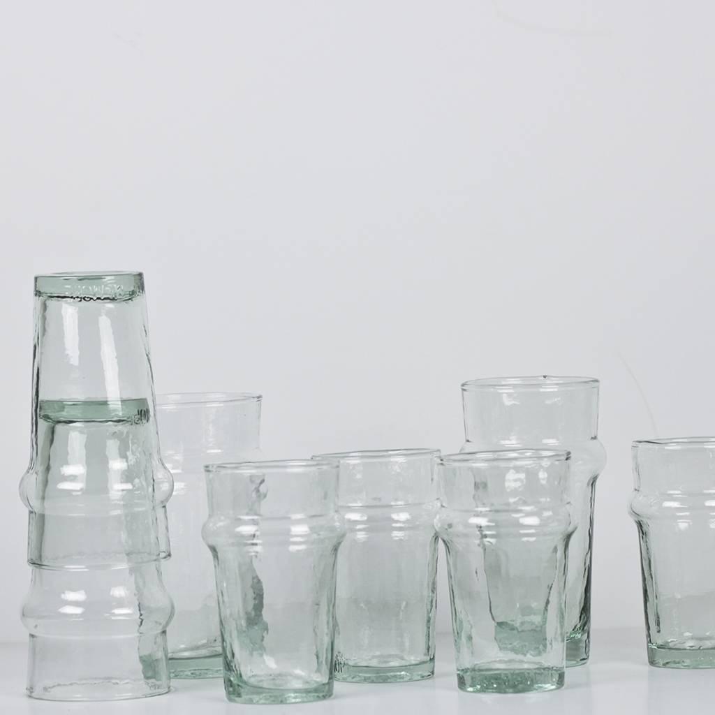 Tell me more Mynta Glas - Blue / Green - set of 6 x 9,5cm - Tell Me More