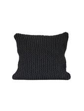 Tell me more Coussin tricot coton - gris foncé - Tell Me More
