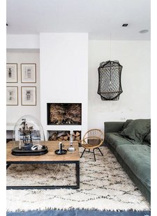 The ethnic, berber and boucherouite rugs are the new design trend this year - seen on Marie Claire Maison