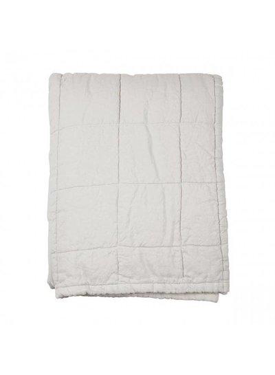 House in Style colcha de lino lavado 'Nice' - mármol / blanco roto - 250x260cm - House in Style