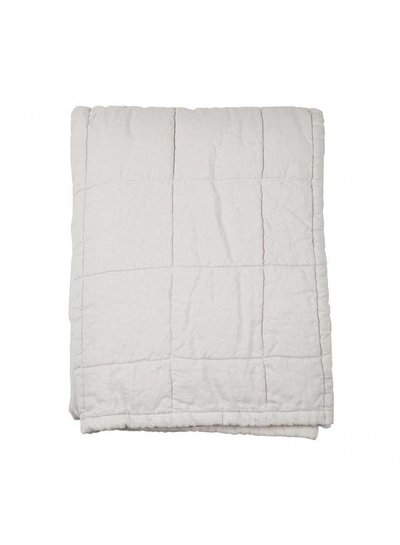 House in Style linen bedspread washed 'Nice' - marble / off-white - 250x260cm - House in Style