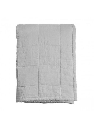 House in Style linen bedspread washed 'Nice' - perl gray - 250x260cm - House in Style
