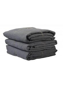 Tell me more Funda Nordica 100% de lino lavado - 220x240 - gris oscuro - Tell me more
