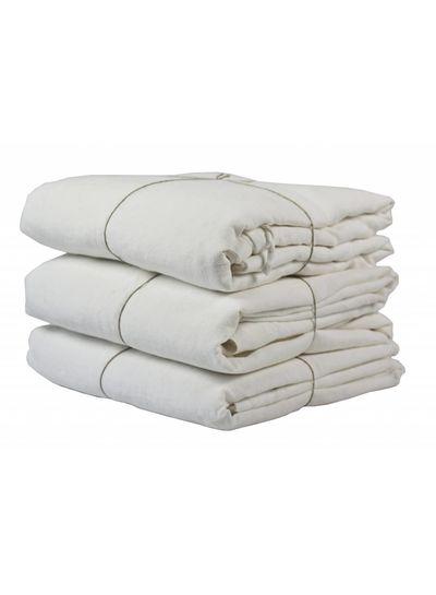 Tell me more Funda nórdica 100% lino lavado piedra - 220x240 - blanco - Tell me more