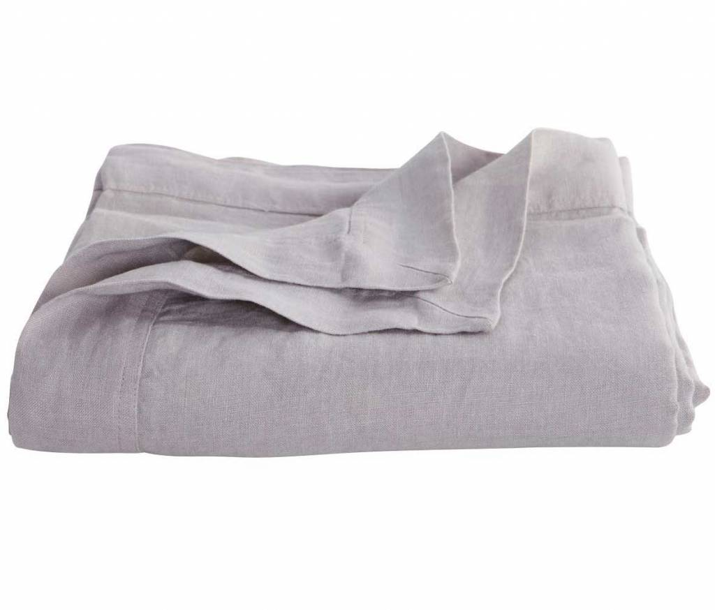 House Doctor Plaid / bedspread 100% linen - gray - 250x220cm - House Doctor