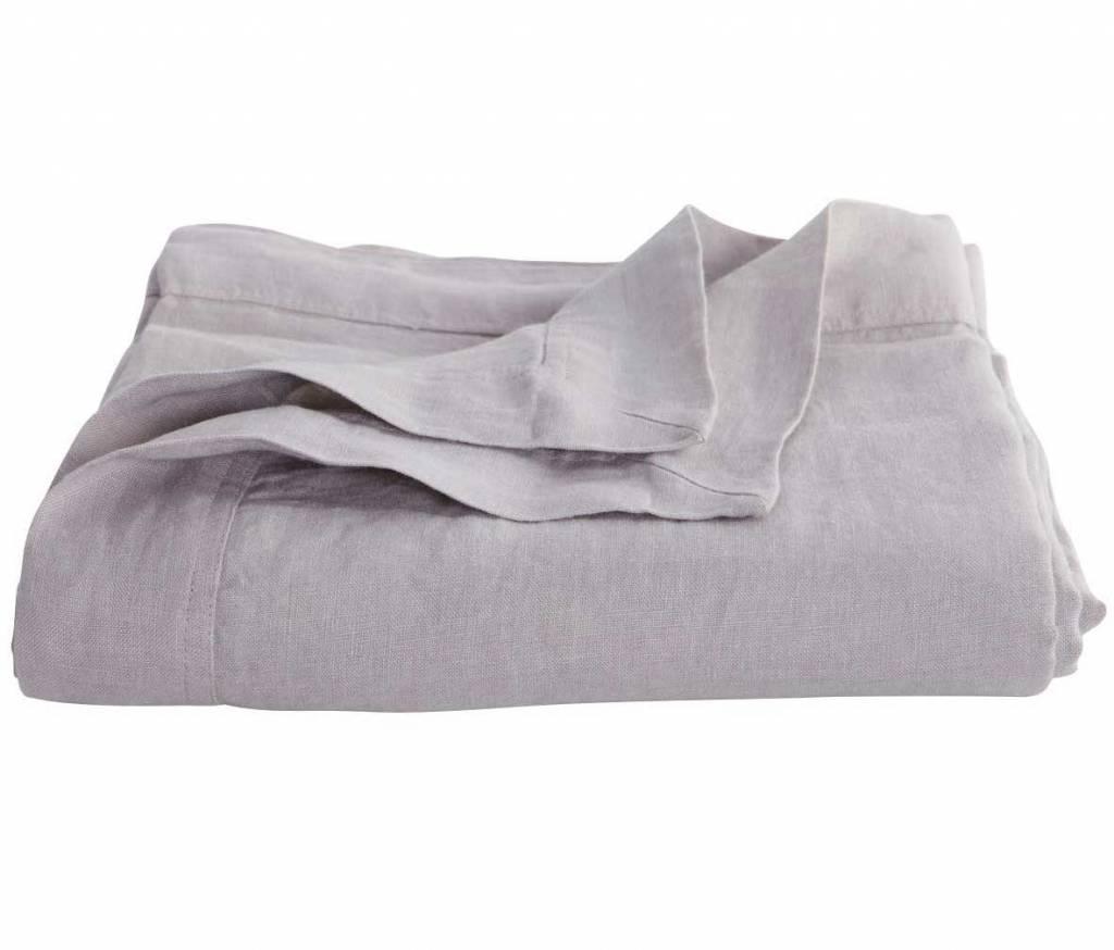 house doctor plaid couvre lit en 100 lin gris. Black Bedroom Furniture Sets. Home Design Ideas