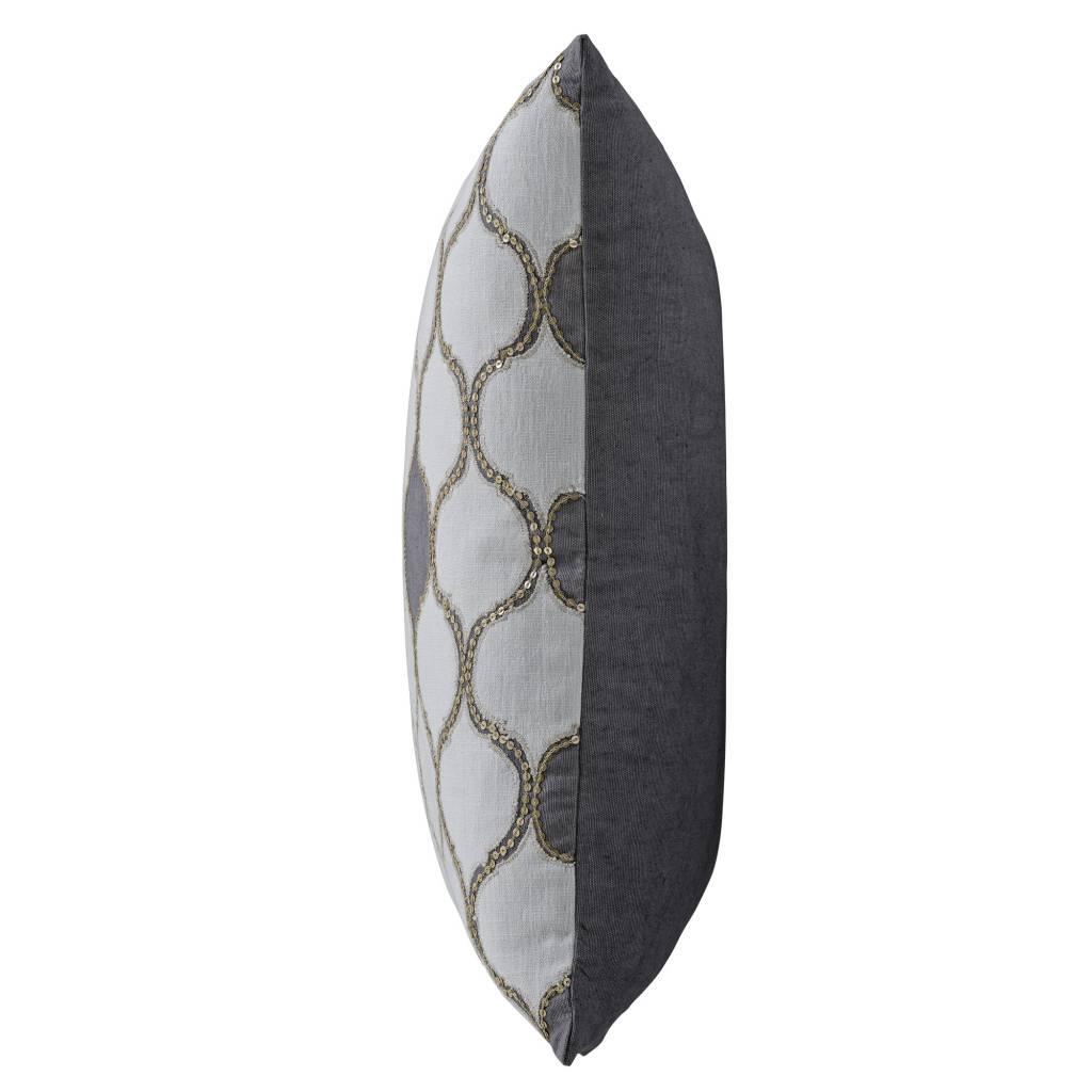Bloomingville Habiba cushion - white / grey - 50x50cm - Bloomingville