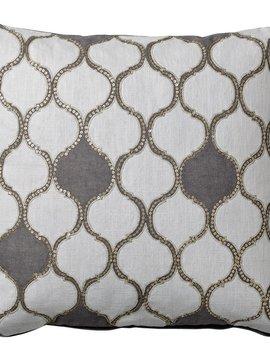 Bloomingville Coussin Habiba - blanc - 50x50cm - Bloomingville