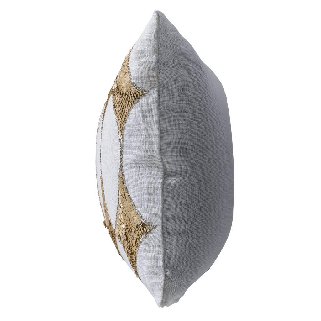 Bloomingville Coussin Harlequin - blanc - 25x50cm - Bloomingville