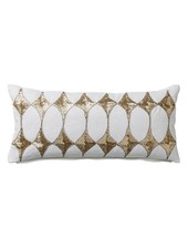 Bloomingville Coussin Harlequin - blanc - 25x50cm - Bloomingville