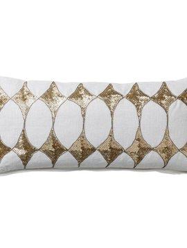 Bloomingville Harlequin cushion - white - 25x50cm - Bloomingville