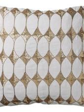Bloomingville Coussin Harlequin - blanc - 50x50cm - Bloomingville