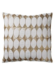 Bloomingville Coussin Harlequin - blanc - 50x50cm - Bloomingville
