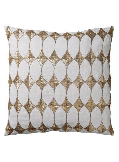 Bloomingville Harlequin cushion - white - 50x50cm - Bloomingville