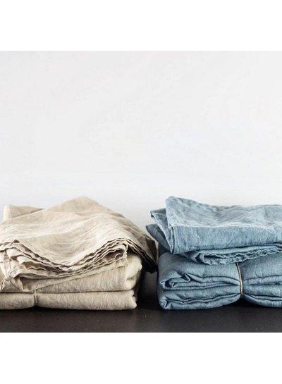Tell me more Funda Nordica 100% de lino lavado - 220x240 - Dusty Azul - Tell me more