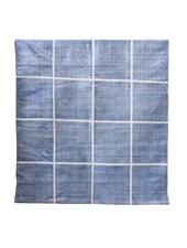 Tell me more Alfombra de algodón lavado a la piedra - Azul - 140x200m - Tell me more