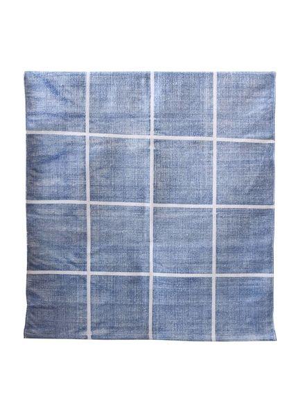 Tell me more Tapis Scandinave en coton lavé - bleu - 140x200m - Tell me more