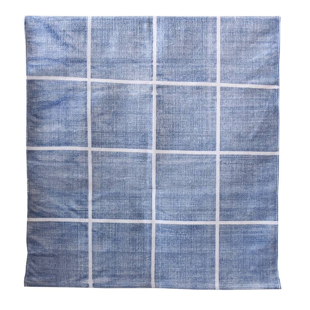 Tell me more Rug in Stonewashed cotton - blue - 140x200cm - Tell me more
