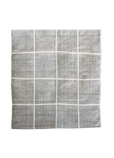 Tell me more Tapis Scandinave en coton lavé - gris - 140x200cm - Tell me more