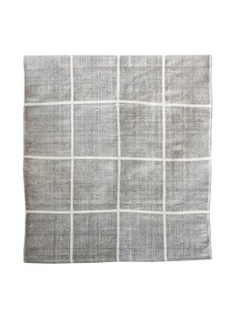 Tell me more Tapis Scandinave en coton lavé - gris - 140x200cm - Tell me more