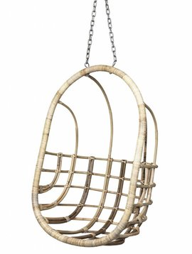 """Broste Copenhagen """"EGG"""" hanging chair in natural rattan - Broste Copenhagen"""