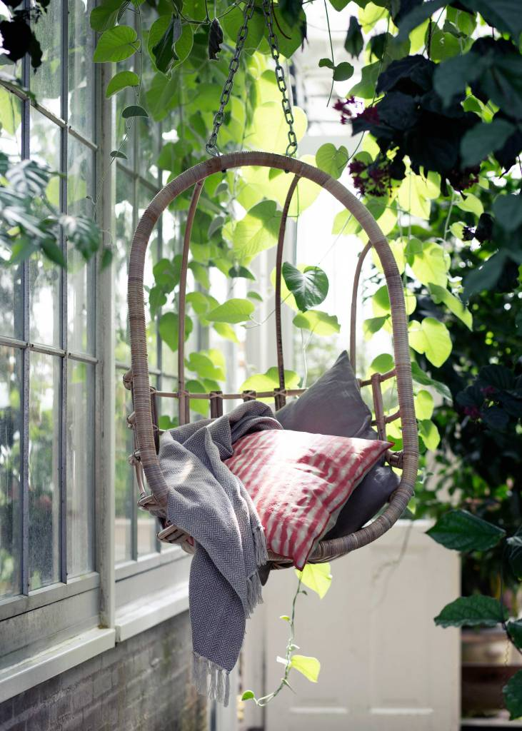 "Broste Copenhagen ""EGG"" hanging chair in natural rattan - Broste Copenhagen"