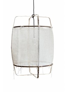 Ay Illuminate Z11 Bamboo Pendant lamp with silk and cashmere cover - Ø 48.5cm - white - Ay illuminate