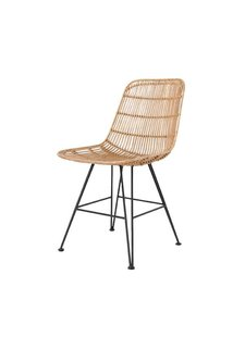 HK Living Rattan dining chair natural - HK Living