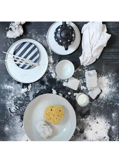 HK Living Set of 2 ceramic dinner plates - 28cm - HK Living