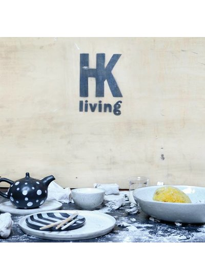 HK Living Set de 2 assiettes ceramique - 22cm - HK Living