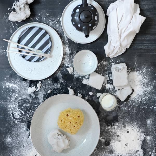 HK Living Set de 2 assiettes ceramique - 22cm - HK Living