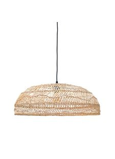HK Living Lampe Suspension en osier - Ø60cm - naturel - HK Living
